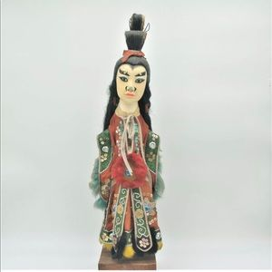 Antique Chinese Opera Doll Original Clothing Male